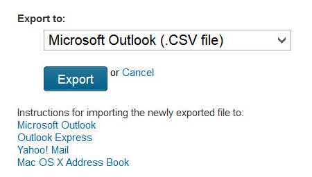 Once you select your desired format, click the Export button