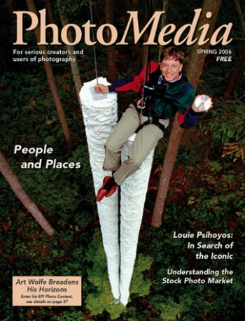 cover of PhotoMedia magazine from Spring 2006