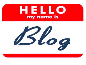 Blog name badge