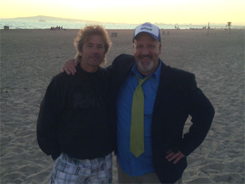 photo of Glenn Letham and Mike Maddaloni at Nokia E73 Mode beach Party