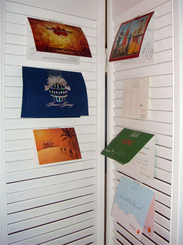 photo of holiday cards received by Dunkirk Systems, LLC in 2008