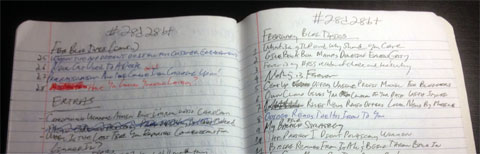 photo of notes from 28 days 28 blog posts