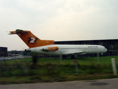 Wordless Wednesday - Airplane at 727 Group Office in Skanderborg, Denmark