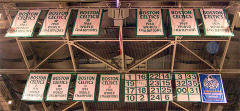 Wordless Wednesday - Celtics Banners at TD Banknorth Garden