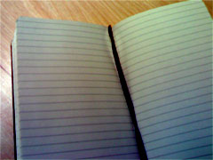 photo of blank Moleskine page