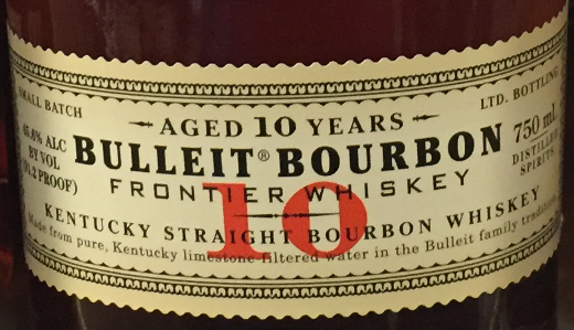 photo of Bulleit Bourbon bottle label