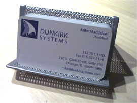 photo of Dunkirk Systems, LLC business card holder