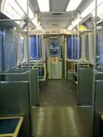 photo of Chicago subway car