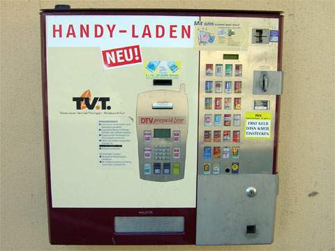photo of Combination Mobile Phone Card and Cigarette Vending Machine in Erfurt Germany