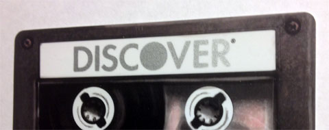 photo of Discover card with cassette tape design