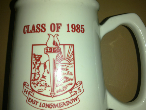 photo of Mike's high school class mug