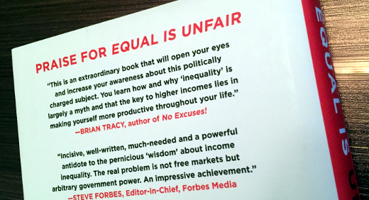 photo of Equal is Unfair back cover