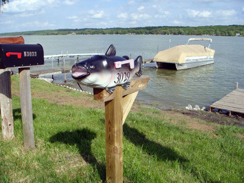 Wordless Wednesday - Fish Mailbox Along Lake Como, Wisconsin