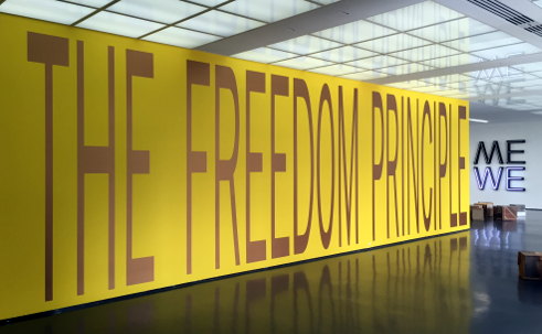 photo of The Freedom Principle mural at Museum of Contemporary Art Chicago