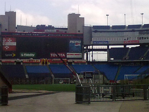 photo of empty Gillette Stadium