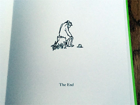 photo of the last page of The Giving Tree