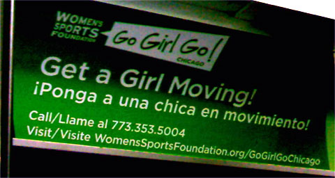 photo of GoGirlGo! Chicago subway ad