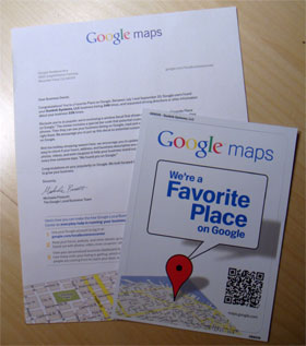 photo of Google Maps letter and decal