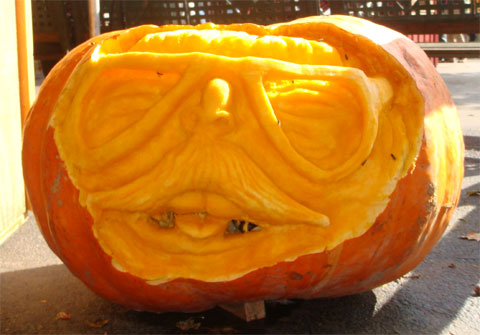 photo of carved pumpkin at Bengston's Pumpkin Farm