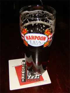 photo of pint of Harpoon IPA at Bukowski Tavern in Boston