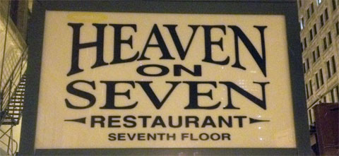 photo of Heaven on Seven sign