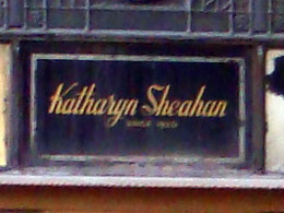 photo of sign Katharyn Sheahan, Since 1920