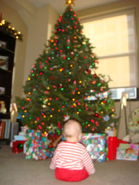 photo of Margo's first Christmas