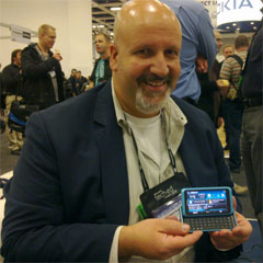 photo of Mike Maddaloni with the Nokia E7