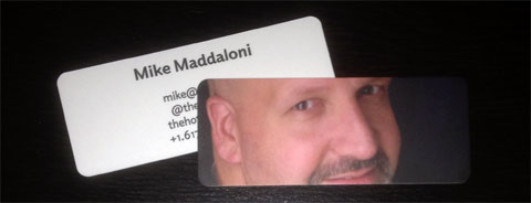 photo of my MOO MiniCards