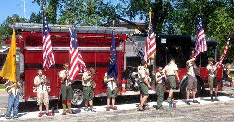 photo of Independence Day color guard in Munster Indiana