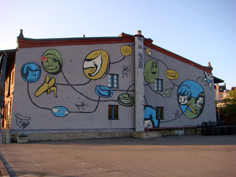 Wordless Wednesday - Mural in Helsinki, Finland