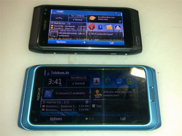 photo of Nokia N8 and E7
