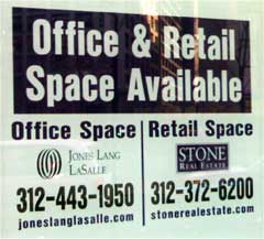 Office Space For Rent window sign