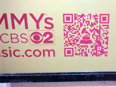 photo of Grammy Awards ad QR code for Katy Perry