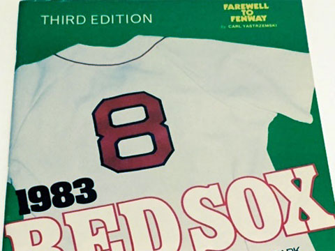 photo of 1983 Boston Red Sox program