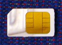 photo of a SIM card
