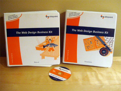 The Web Design Business Kit from SitePoint on eBay
