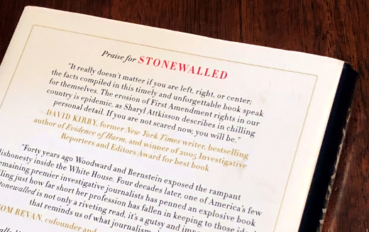 photo of the back cover of Stonewalled