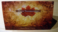 photo of Thanksgiving card