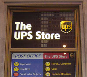The UPS Store window