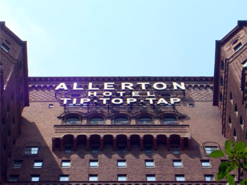 photo of Allerton Hotel Tip Top Tap sign