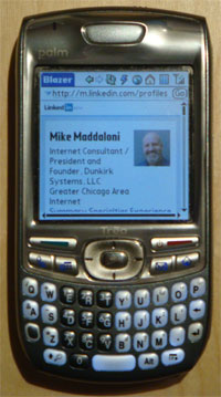 photo of Treo with Mike's LinkedIn profile