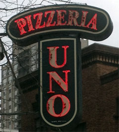 photo of Pizzeria Uno sign