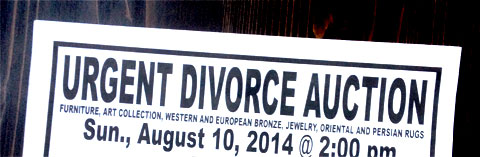 photo of a flyer for an Urgent Divorce Auction