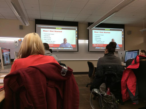 photo of Mike Maddaloni presenting at UW-Oshkosh