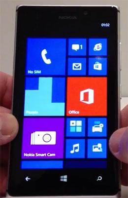 photo of Nokia Lumia 925 running Windows Phone