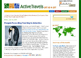 Active Travels blog and forum