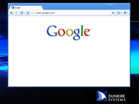 Screen shot of new Google home page without search box