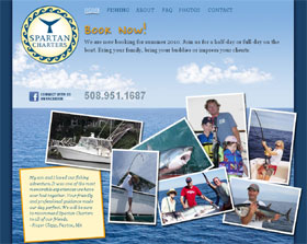 home page of Spartan Charters Web site