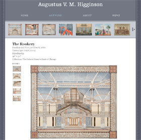 artwork page of Web site of Augustus V. M. Higginson